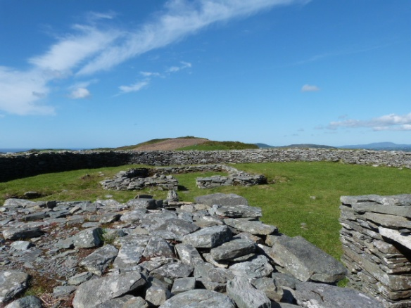Knockdrum Stone Ring Fort - entrance with small square building inside